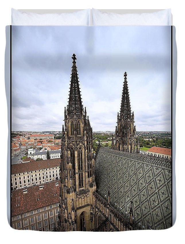Prague Duvet Cover featuring the photograph Prague Castle by Madeline Ellis