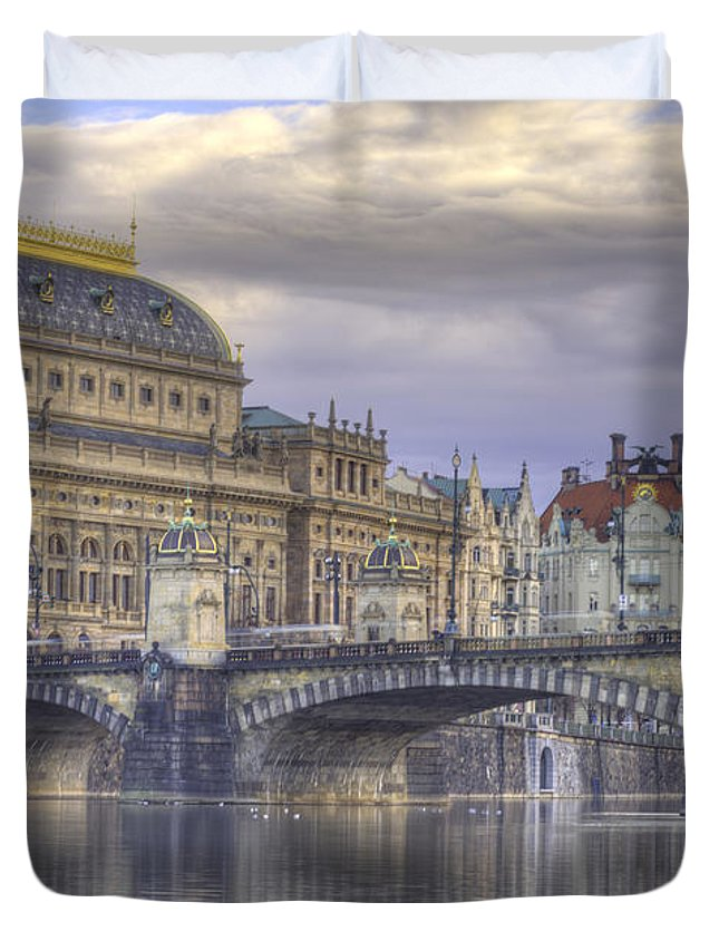 Architecture Duvet Cover featuring the photograph Prague, Czech Republic by Juli Scalzi