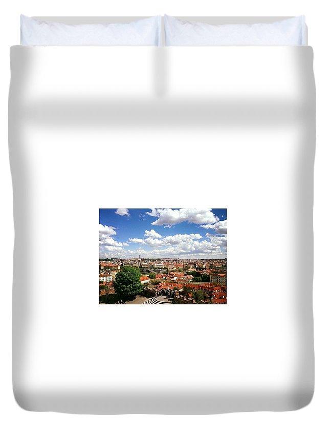 Prague Duvet Cover featuring the photograph Prague by Rossana Azzoni
