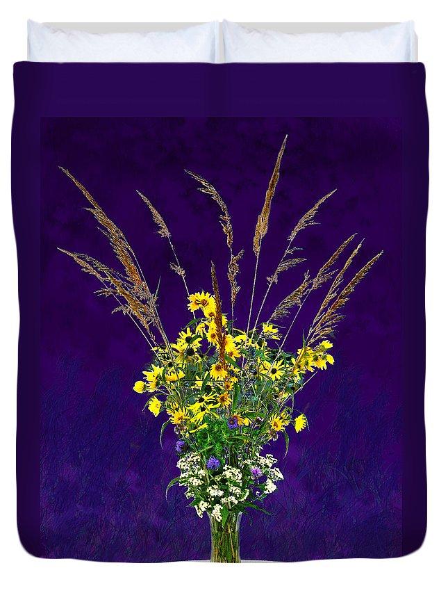 Flowers Duvet Cover featuring the photograph Prairie Bouquet by Steve Karol