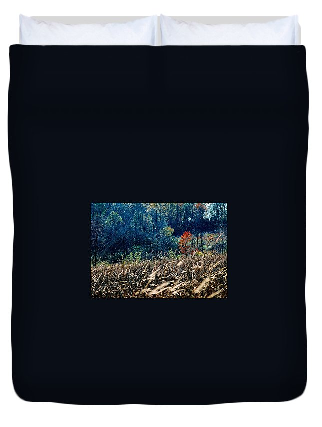 Landscape Duvet Cover featuring the photograph Prairie Edge by Steve Karol