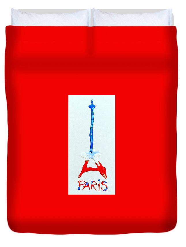 Paris Duvet Cover featuring the painting For Paris by Kasha Ritter