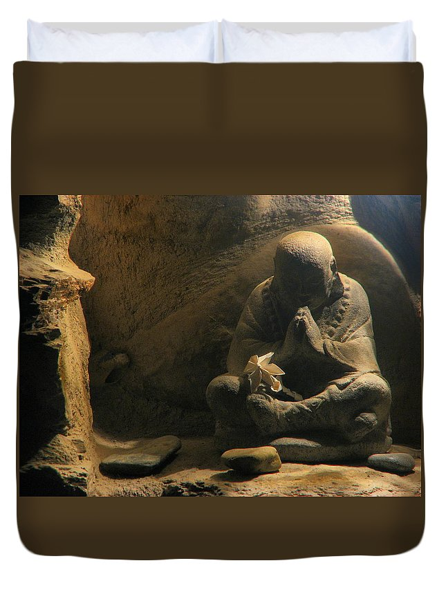 Peace Duvet Cover featuring the photograph Pray For Peace by Robin Fifield