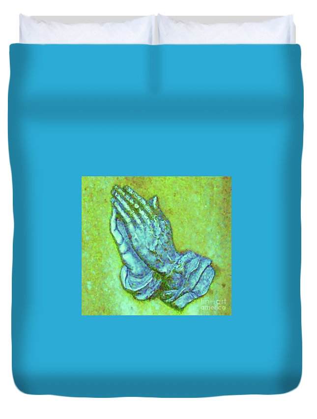 Albrecht Duerer Duvet Cover featuring the photograph Prayer 3 by Leonore VanScheidt