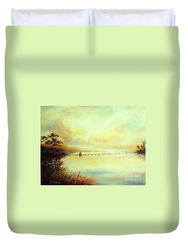 Canvas Prints Duvet Cover featuring the painting Prelude by Madeleine Holzberg