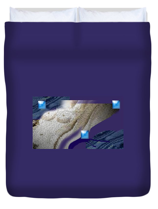 Abstract Duvet Cover featuring the digital art Prelude To A Dream by Steve Karol