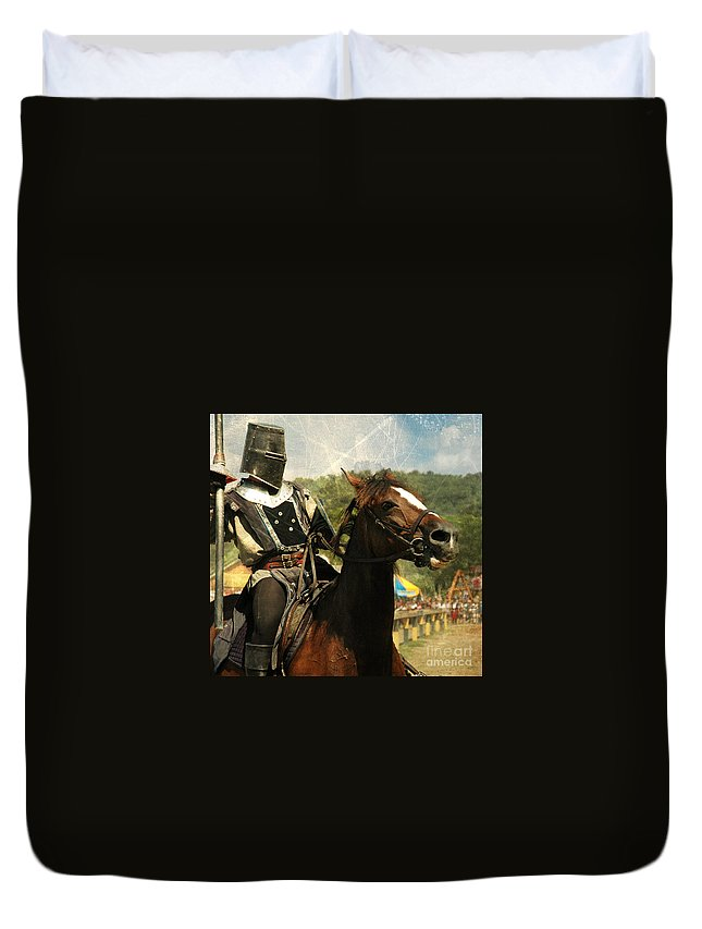 Medieval Duvet Cover featuring the photograph Prepare The Joust by Paul Ward