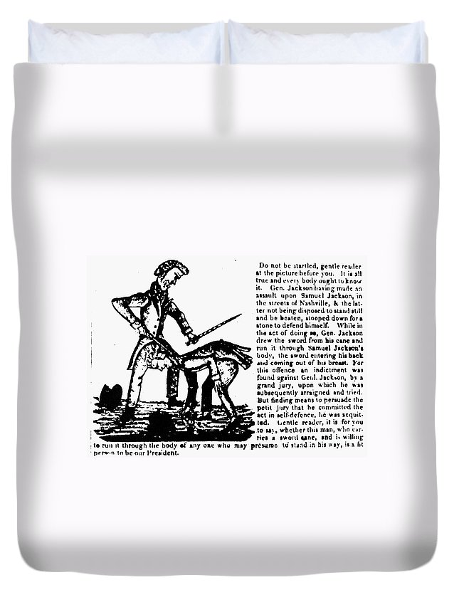 1828 Duvet Cover featuring the photograph Presidential Campaign, 1828 by Granger