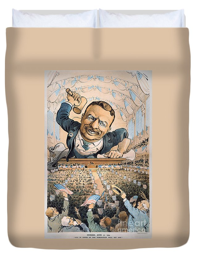 1904 Duvet Cover featuring the photograph Presidential Campaign, 1904 by Granger