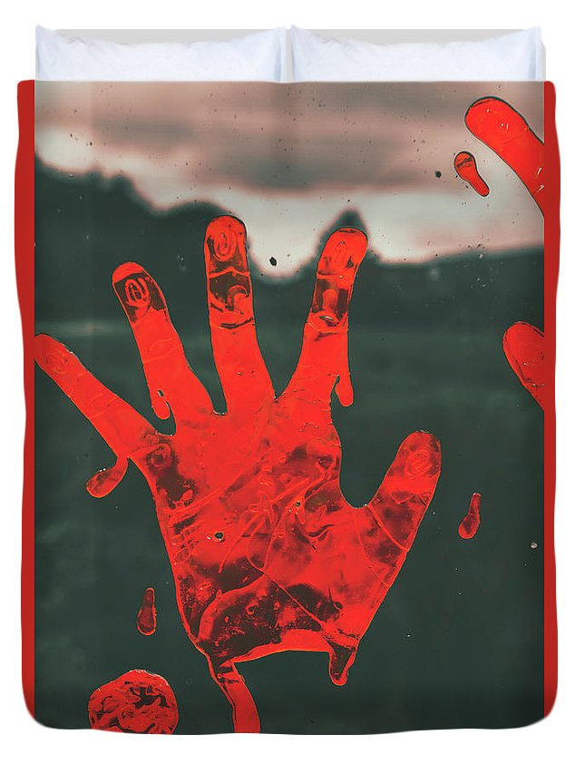 Fear Duvet Cover featuring the photograph Pressing Terror by Jorgo Photography - Wall Art Gallery