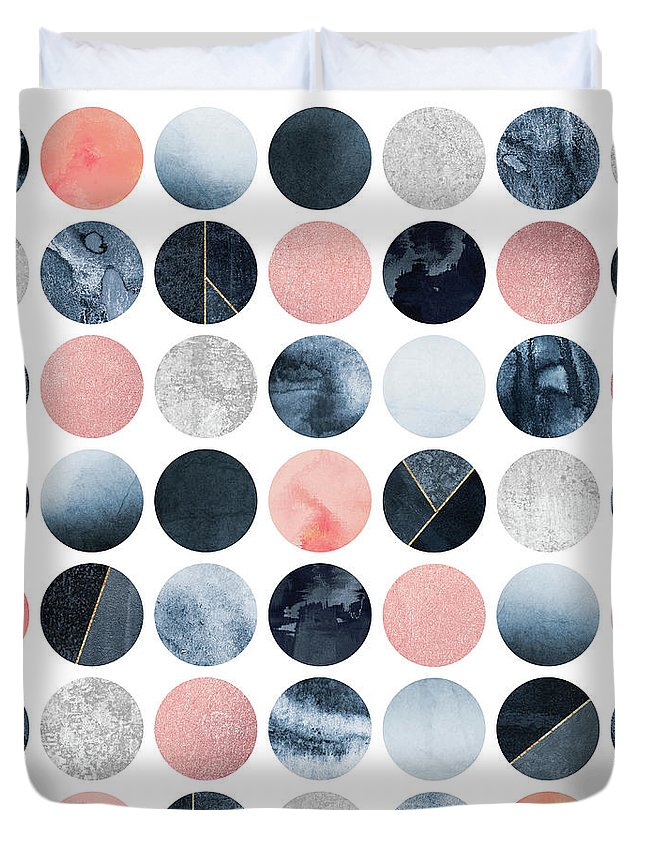 Graphic Duvet Cover featuring the digital art Pretty Dots by Elisabeth Fredriksson