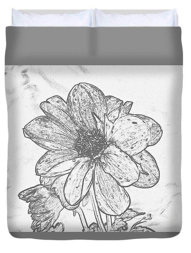 Flower Duvet Cover featuring the digital art Pretty Flower by Jeramey Lende