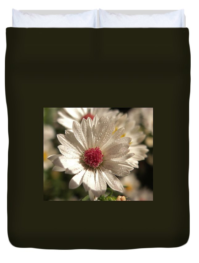 Flower Duvet Cover featuring the photograph Pretty In Pink by Amy Kobylarczyk