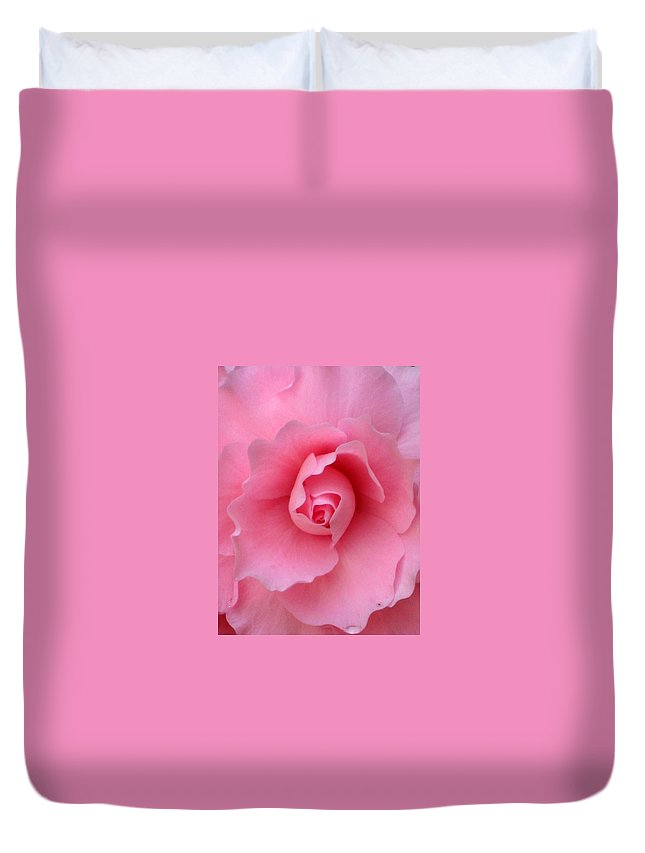 Floral Duvet Cover featuring the photograph Pretty In Pink by Marla McFall