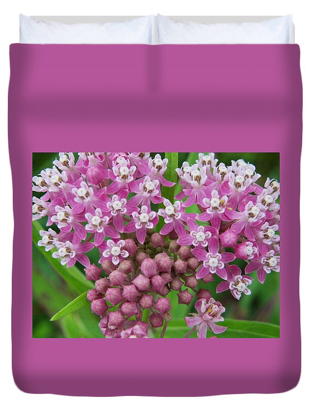 Nature Duvet Cover featuring the photograph Pretty In Pink by Peggy King
