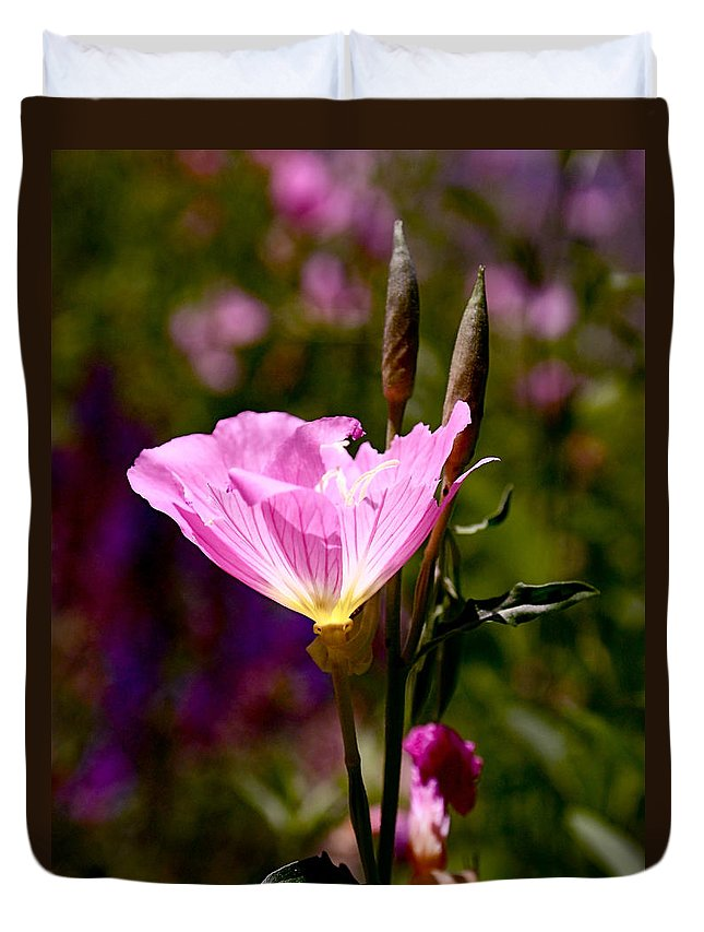 Pink Duvet Cover featuring the photograph Pretty In Pink by Rona Black