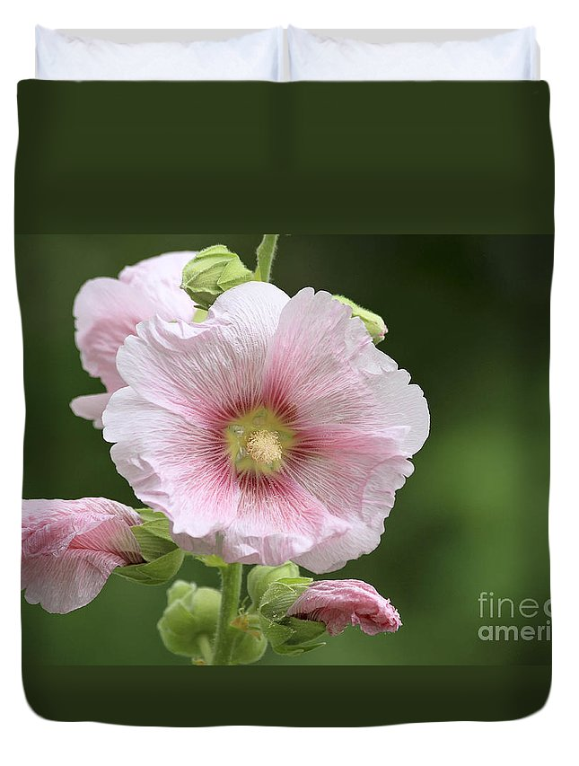 Flower Duvet Cover featuring the photograph Pretty In Pink by Teresa Zieba