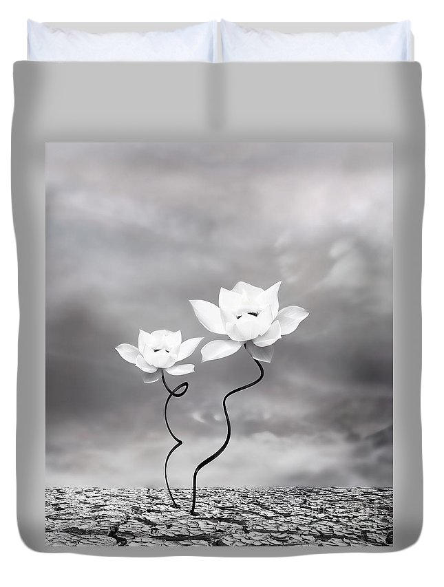 Surreal Duvet Cover featuring the photograph Prevail by Jacky Gerritsen