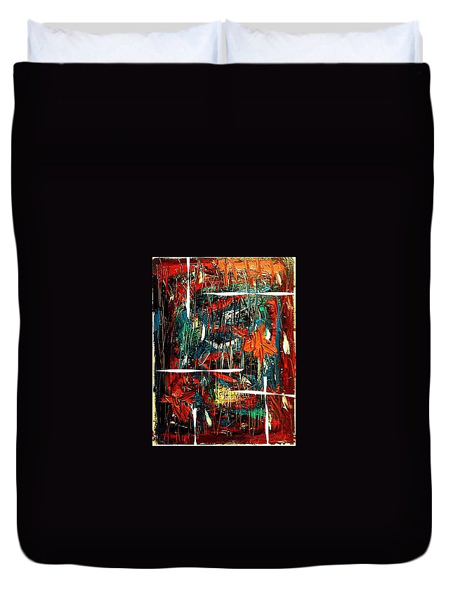 Oil Duvet Cover featuring the painting Prevernale by Liberio Art