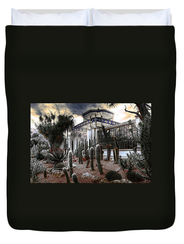 Plants Duvet Cover featuring the photograph Pricklyscape by Wayne Sherriff