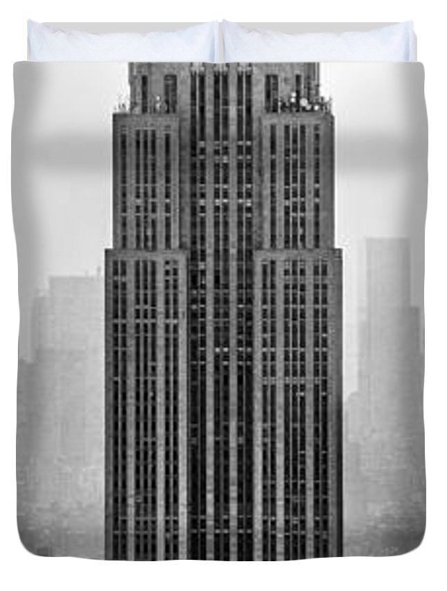 Empire State Building Duvet Cover featuring the photograph Pride Of An Empire by Az Jackson