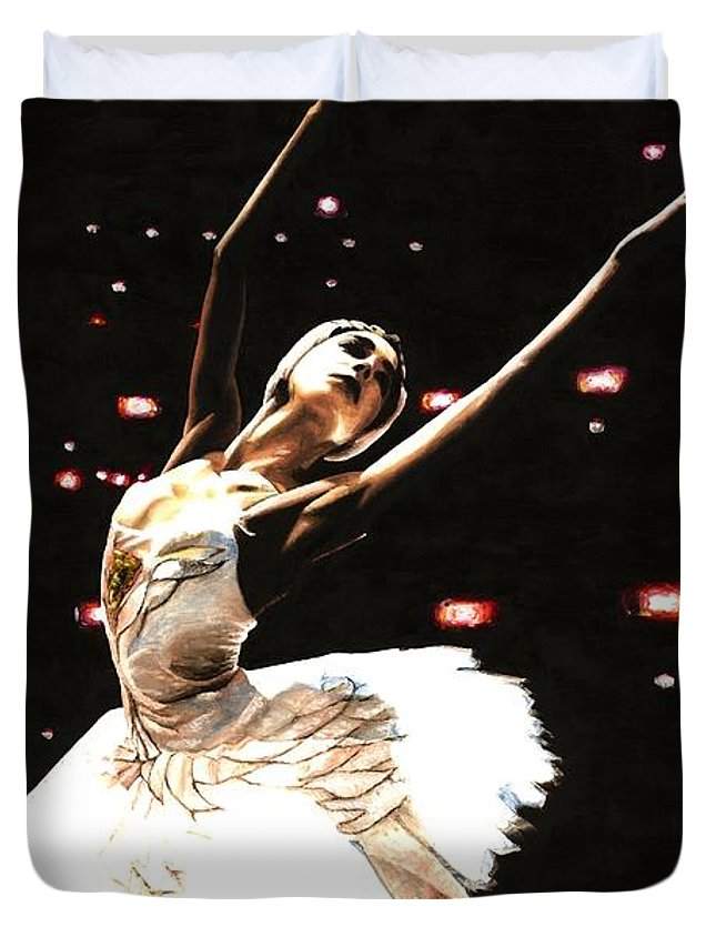 Prima Ballerina Duvet Cover featuring the painting Prima Ballerina by Richard Young
