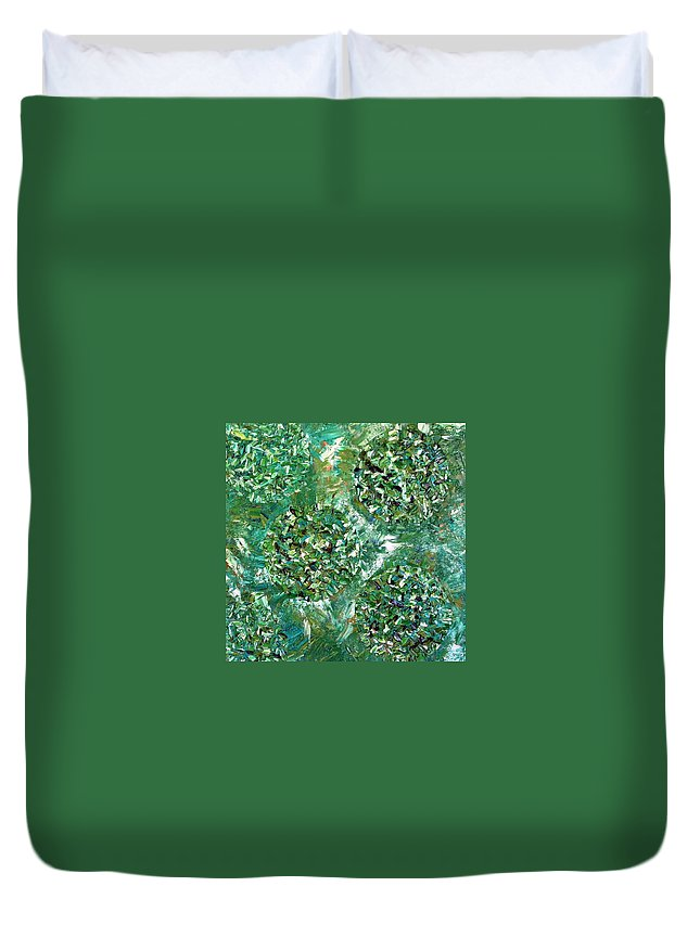 Contemporary Duvet Cover featuring the painting Primal by Dawn Hough Sebaugh