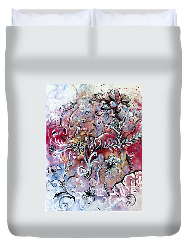 Art Duvet Cover featuring the painting Primavera by Shadia Derbyshire