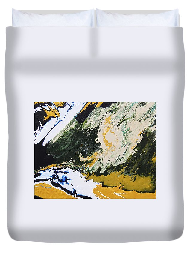 Fusionart Duvet Cover featuring the painting Primeval by Ralph White