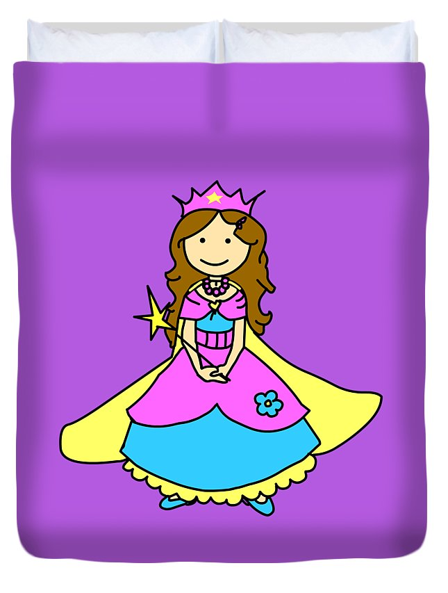 Princess Duvet Cover featuring the digital art Princess by Monica Moscovich