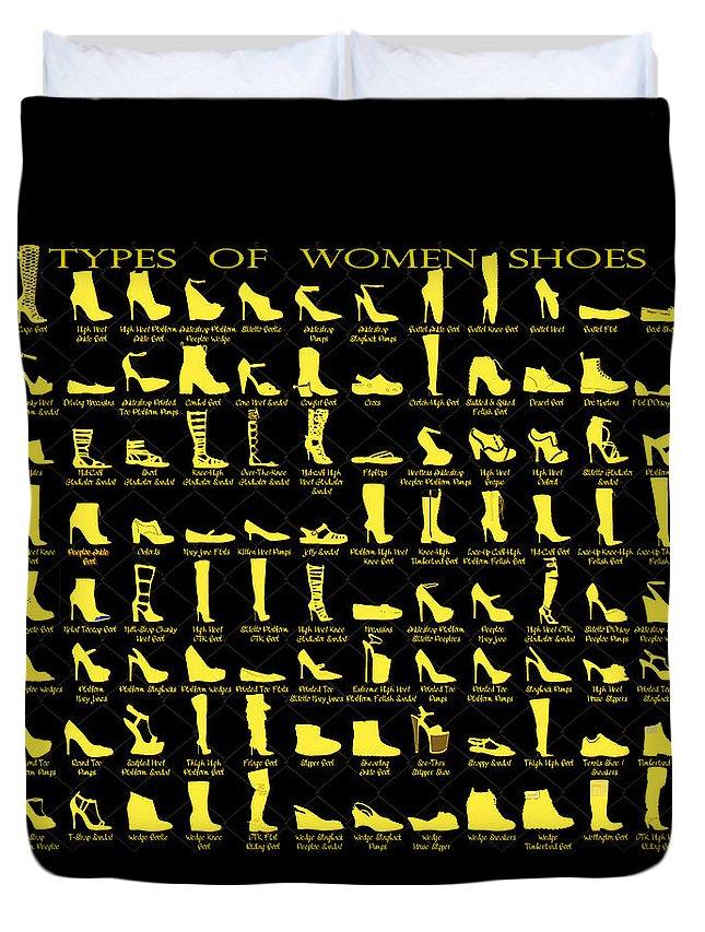 Shoe Duvet Cover featuring the digital art Print by Goddess Tasha