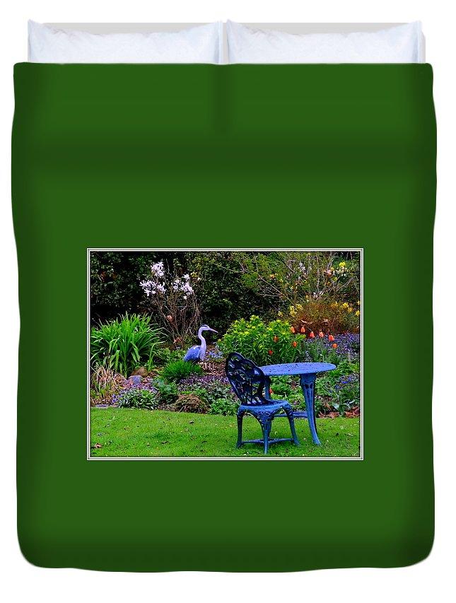 Garden Duvet Cover featuring the photograph Priscillas English Garden by Mindy Newman
