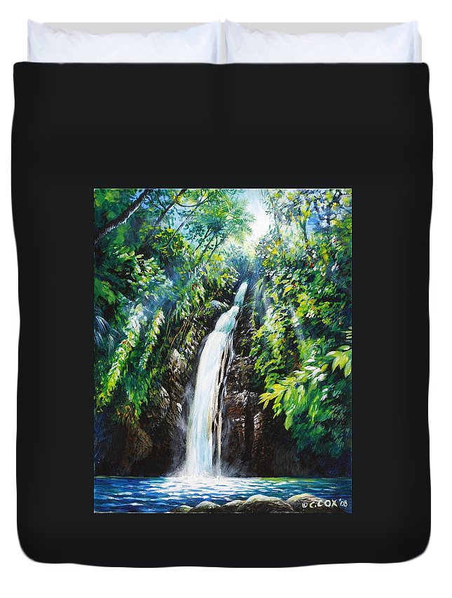 Chris Cox Duvet Cover featuring the painting Pristine by Christopher Cox