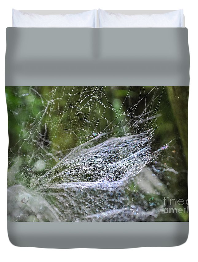 Landscape Duvet Cover featuring the photograph Private Galaxy by Lyudmila Prokopenko