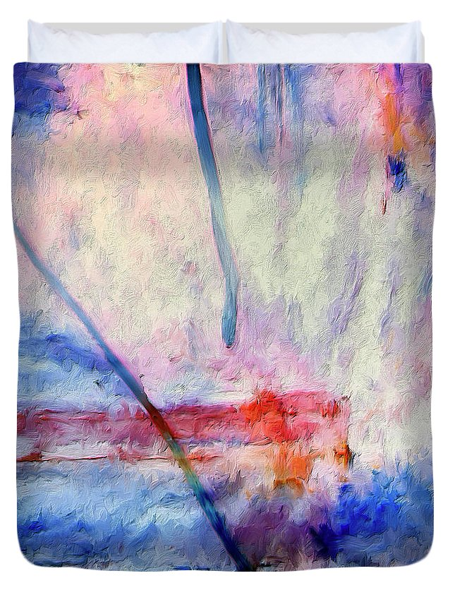 Abstract Duvet Cover featuring the painting Probe by Dominic Piperata