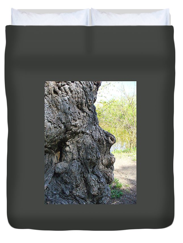 Tree Duvet Cover featuring the photograph Profile Of An Ancient Willow by Peggy King
