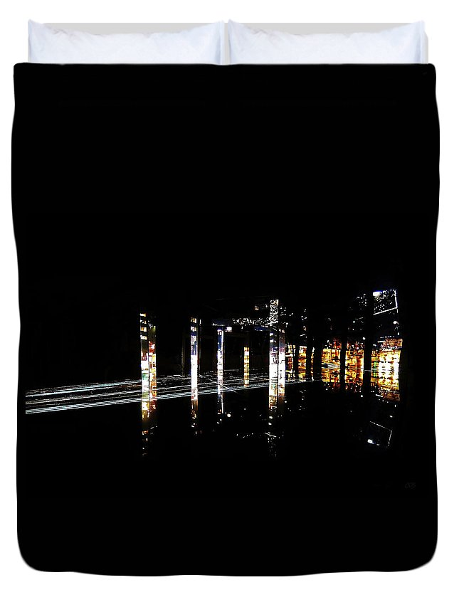 Projection Duvet Cover featuring the photograph Projection - City 5 by Conor O'Brien
