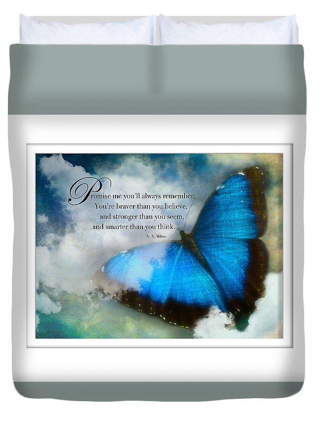 Promise Me Duvet Cover featuring the photograph Promise Me by Karen Castillo