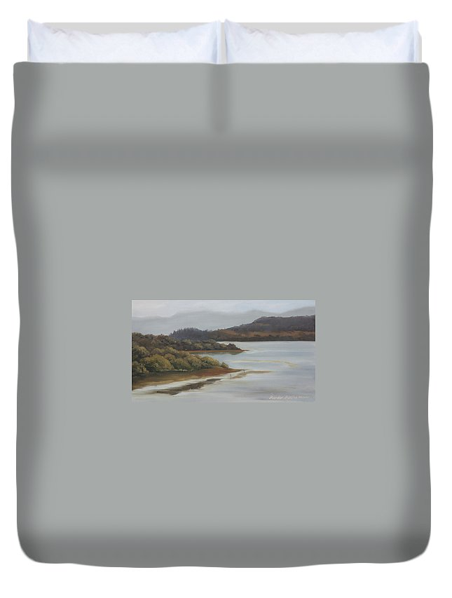 Promise Of A New Day Duvet Cover featuring the painting Promise Of A New Day by Mandar Marathe