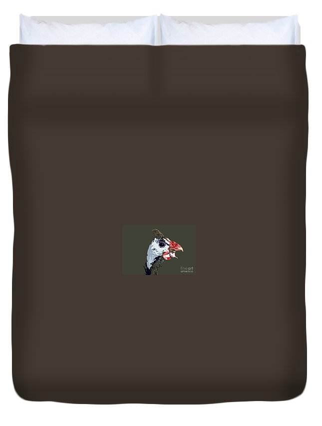 Bird Duvet Cover featuring the photograph Proud Bird by David Lee Thompson