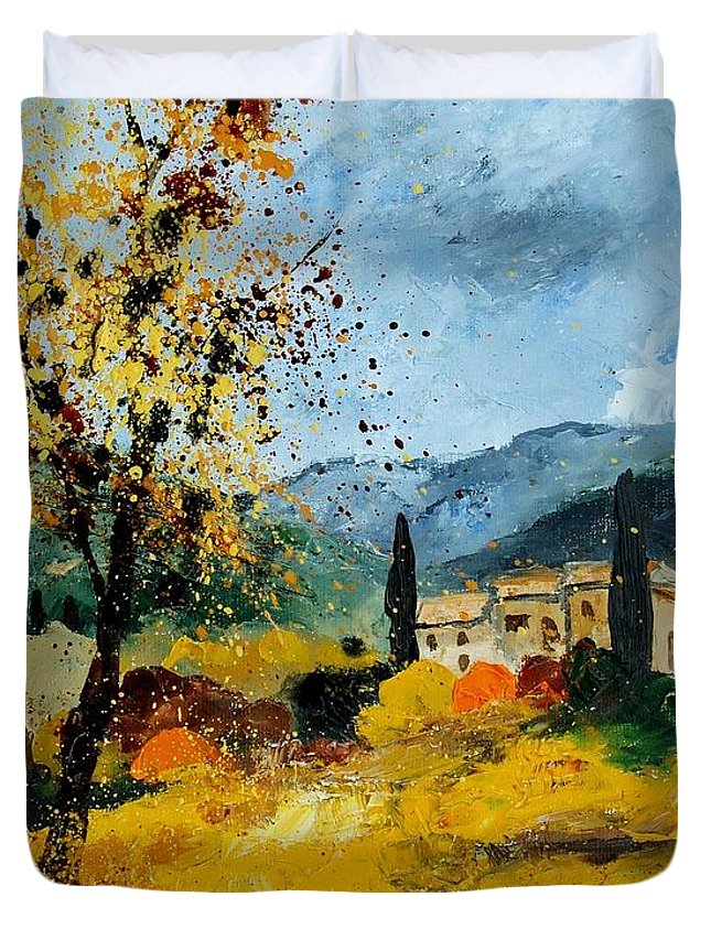 Provence Duvet Cover featuring the painting Provence 45 by Pol Ledent