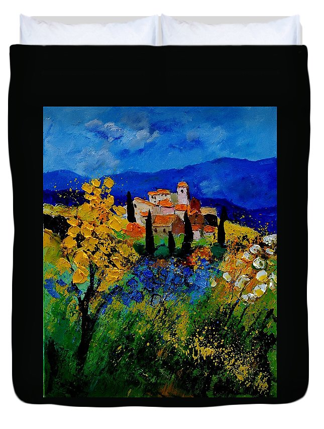 Poppies Duvet Cover featuring the painting Provence 459001 by Pol Ledent