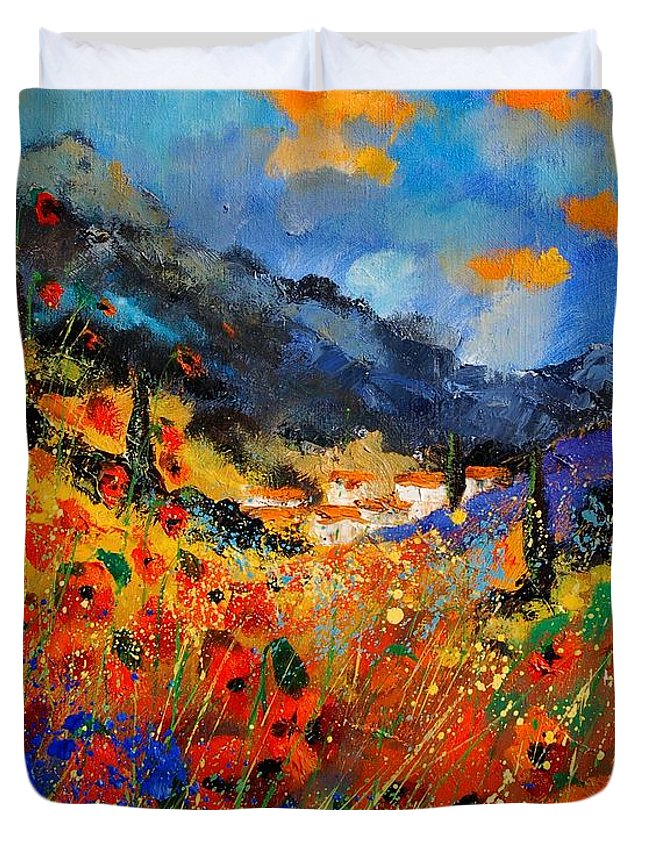 Duvet Cover featuring the painting Provence 459020 by Pol Ledent