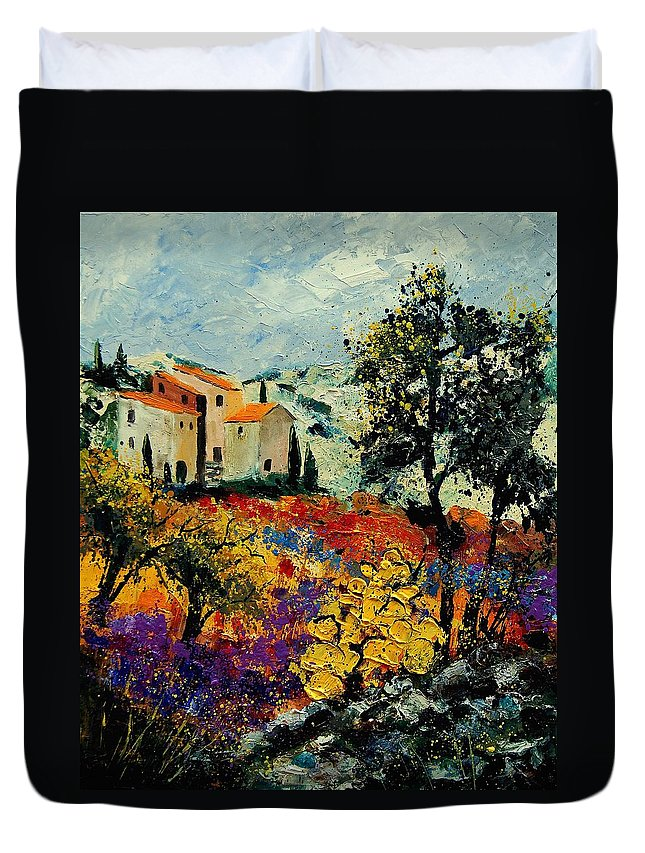 Provence Duvet Cover featuring the painting Provence 56900192 by Pol Ledent