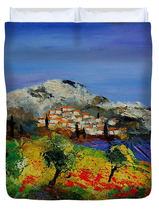 Provence Duvet Cover featuring the painting Provence 569010 by Pol Ledent