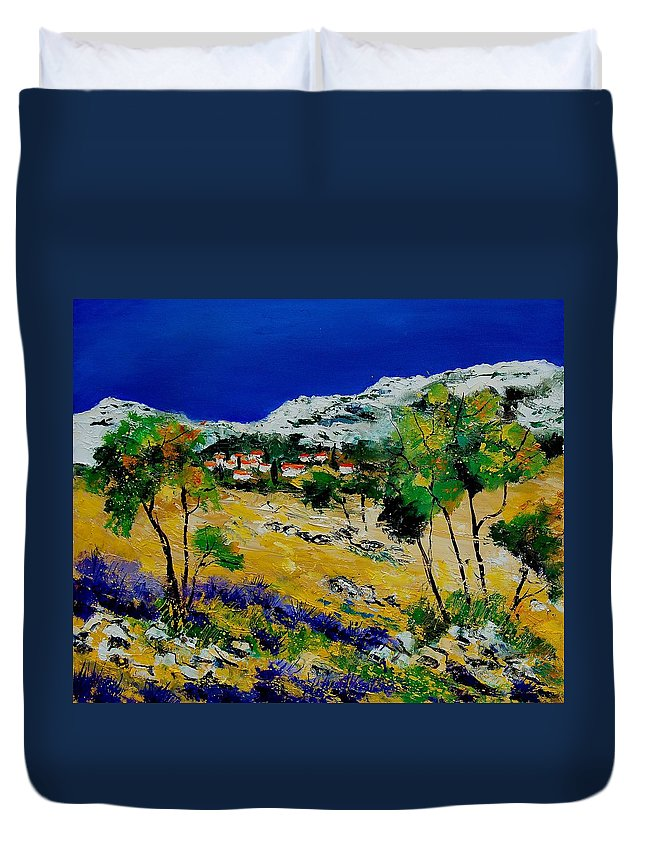 Provence Duvet Cover featuring the painting Provence 569060 by Pol Ledent