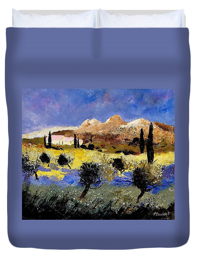 Provence Duvet Cover featuring the painting Provence 674525 by Pol Ledent