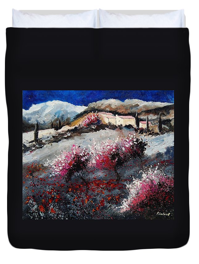 Provence Duvet Cover featuring the painting Provence 675458 by Pol Ledent
