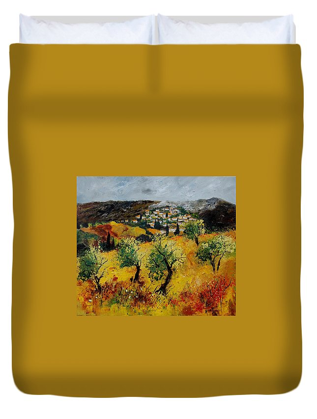 Provence Duvet Cover featuring the painting Provence 789080 by Pol Ledent