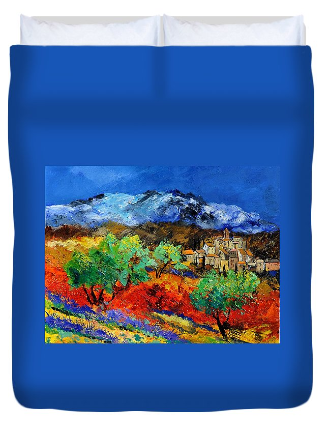 Landscape Duvet Cover featuring the painting Provence 790050 by Pol Ledent